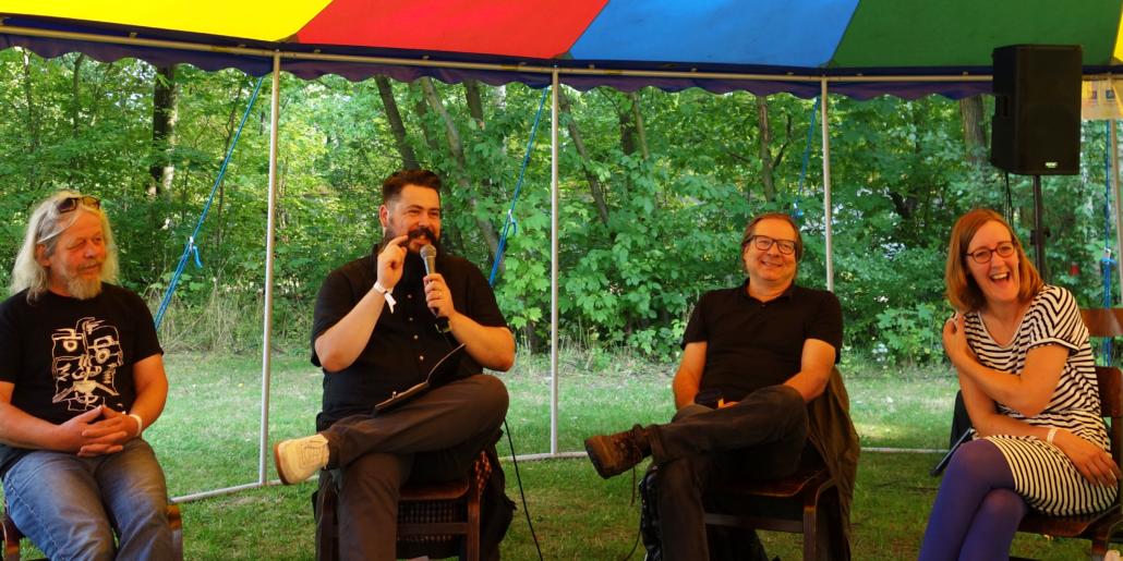 Panel zu Gründen im Osten auf dem Überland-Festival 2020